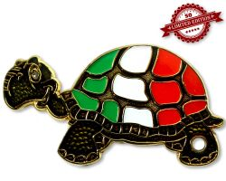 GeoTurtle Nation Geocoin - Mrs. Italy XLE 50