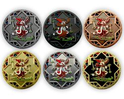 Christmas 2016 Geocoin Collector SET (6 COINS)