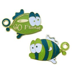 Go Fish Geocoin - Limited Edition Green