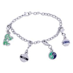 Trackable Geocaching Charm-Bracelet (incl. 4 Trackables)