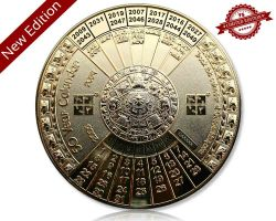 50 Years Calendar XXXL Geocoin V2 Polished Gold (available with engraving)