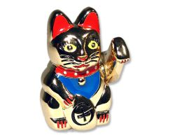 Winkekatze Geocoin Figur - Wealthy Kitty Edition (inkl. Copytag)
