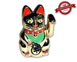 Winkekatze Geocoin Figur - Healthy Kitty Edition (inkl. Copytag) LE 100