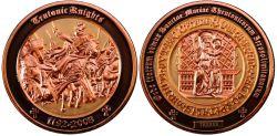 Teutonic Knights Geocoin Kupfer / Gold LE