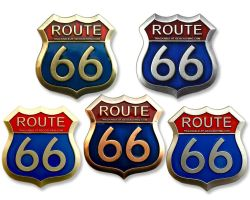 Route 66 Geocoin Collector SET (5 COINS)