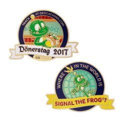 D?nerstag Geocoin - Where in the world is Signal the Frog??