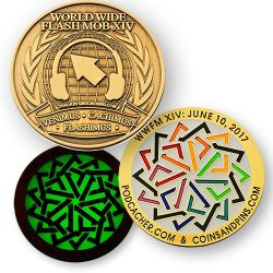 WWFM Flash Mob XIV Event Geocoin (2017)