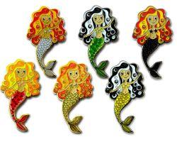 Meerjungfrau Geocoin SET (6 Geocoins) mit gleicher Seriennummer (XX / 75)