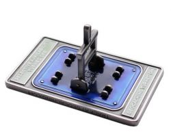 Blue Switch EVOLution Geocoin (turnable switch)