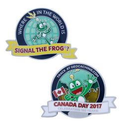 Canada Day Geocoin- Where in the world is Signal the Frog®?
