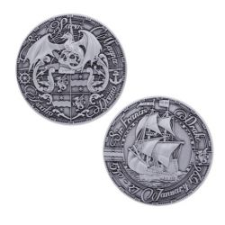 Pirate's Day Geocoin Antik Silber