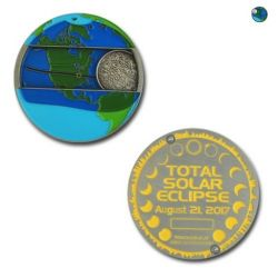 Solar Eclipse 2017 Geocoin Gold LE (moving parts)