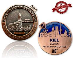 Kiel Geocoin Antique Copper - LILA XLE 50