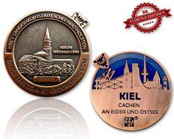 Kiel Geocoin Antik Kupfer - Blau XLE 50