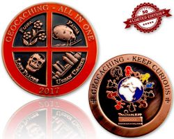 Geocaching - All In One Geocoin 2017 Antique Copper XLE 50 (available with engraving)