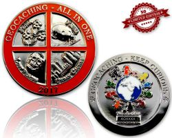 Geocaching - All In One Geocoin 2017 Pol. Silver XLE 50 (available with engraving)