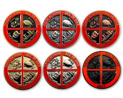 Geocaching - All In One Geocoin 2017 Collector Set - 6 COINS (available with engraving)