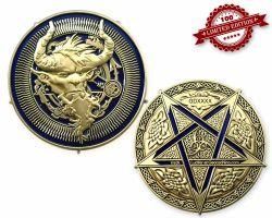 Luzifer 666 Geocoin - Pergamon Altar LE 100
