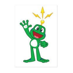 Signal the Frog® Aufkleber transparent