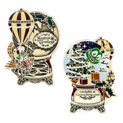 Signal the Frog® Holiday Geocoin Antique Bronze
