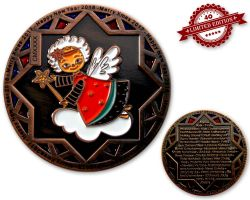 Christmas 2017 Geocoin Antique Copper XLE 40
