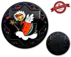 Christmas 2017 Geocoin Black Nickel XXLE 30