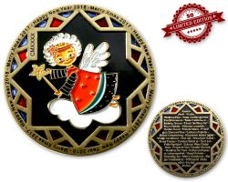 Weihnachten 2017 Geocoin Two Tone (Black Nickel / Satin Gold) XLE 50