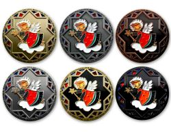 Christmas 2017 Geocoin Collector Set (6 COINS) -VERY RARE