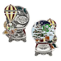 Signal the Frog® Holiday Geocoin Antique Silver