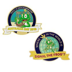 Australia Day Geocoin- Where in the world is Signal the Frog??