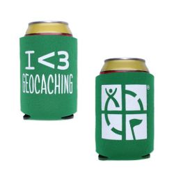 Geocaching.com Can Cooler - green
