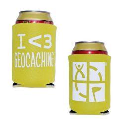 Geocaching.com Dosen-/Flaschenk?hler - gelb