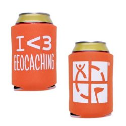 Geocaching.com Dosen-/Flaschenkühler - orange