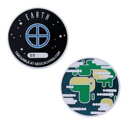 Planetary Pursuit - Solar System Geocoin - Earth / Erde