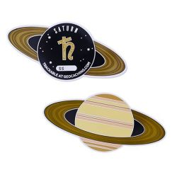 Planetary Pursuit - Solar System Geocoin XL - Saturn