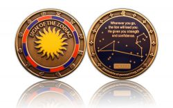 Sign of the Zodiac Geocoin Antique Gold