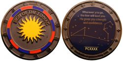 Sign of the Zodiac Geocoin Black Nickel LE