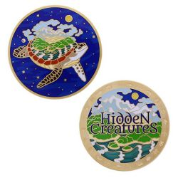 Hidden Creatures - Official Geocoin + Travel Tag SET