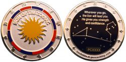 Sign of the Zodiac Geocoin Poliertes Silber LE