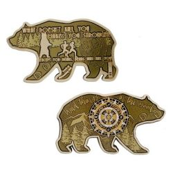Bear Geocoin - Antik Bronze