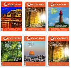 Geocaching Magazin Jahrgang 2013 (6 Hefte)