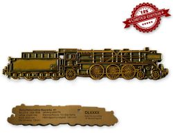 Dampflokomotive Baureihe 01 Geocoin Antik Gold LE 125