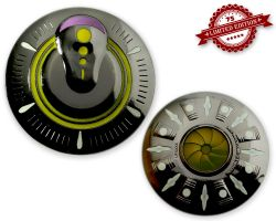 UFO Geocoin - Big Bang Edition (GLOW IN THE DARK) XLE 75