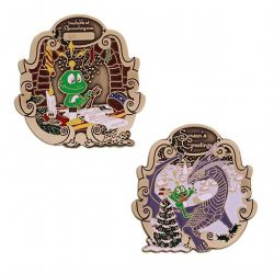 2018 Signal the Frog® Holiday Geocoin - Antik Bronze