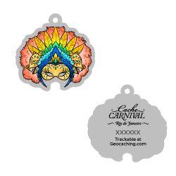 Cache Carnival Souvenir Trackable Tag - Rio de Janeiro