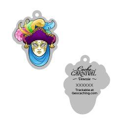 Cache Carnival Souvenir Trackable Tag - Venezia