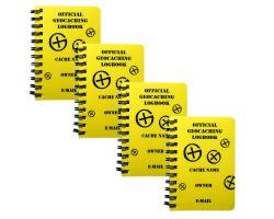 Spiral Geocaching Logbuch A7 (4er Pack)