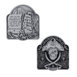 2019 Pirate Geocoin Antik Silber