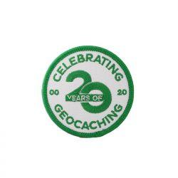 20 Jahre Geocaching - Aufnäher / Aufbügler