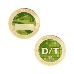 Challenges Geocoin + Tag Set (2 Trackables) - D/T Grid